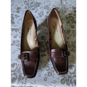 Vintage Anne Klein Brown Leather Loafers Size 6M